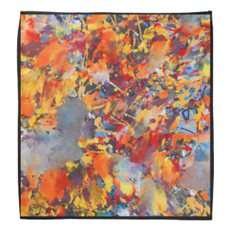 Orange Paint Splashes Bandana