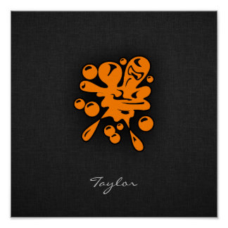 Orange Paintball Poster