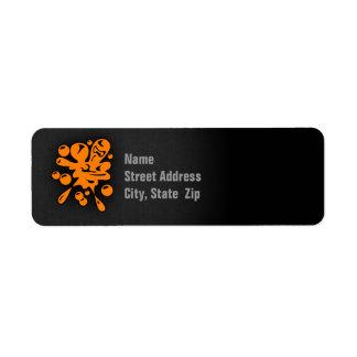 Orange Paintball Return Address Label