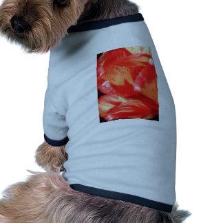 Orange Painted petals flowers Pet T Shirt