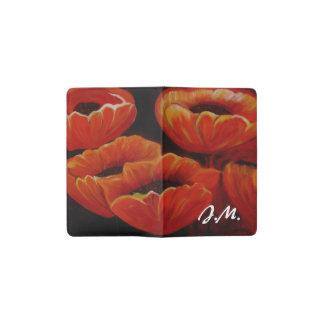Orange painted Tulips Pocket Moleskine Notebook