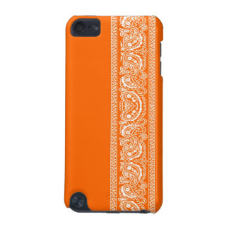 Orange Paisley Bandana iPod Touch Case