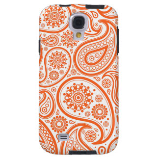 Orange Paisley Floral Pattern Galaxy S4 Case