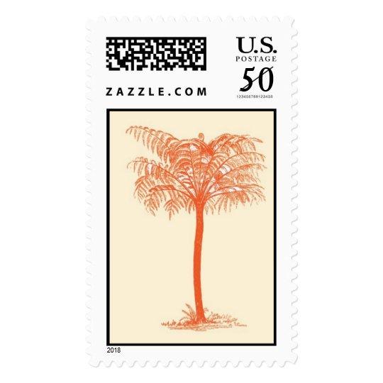 Orange Palm Tree Postage