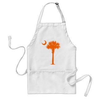 Orange Palmetto Aprons