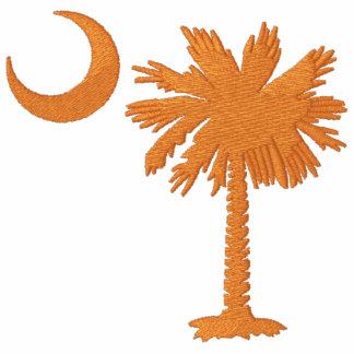 Orange Palmetto Moon Embroidered Shirt
