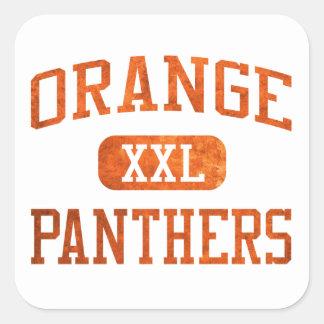 Orange Panthers Athletics Square Sticker