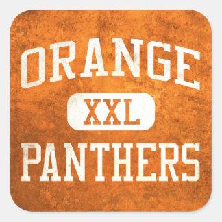 Orange Panthers Athletics Square Stickers