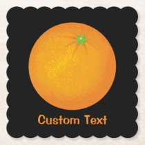 Orange Paper Coaster