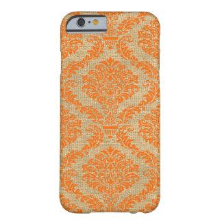 Orange Parisian Moods Damask Barely There iPhone 6 Case