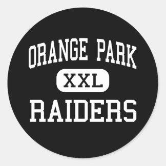 Orange Park - Raiders - High - Orange Park Florida Round Stickers