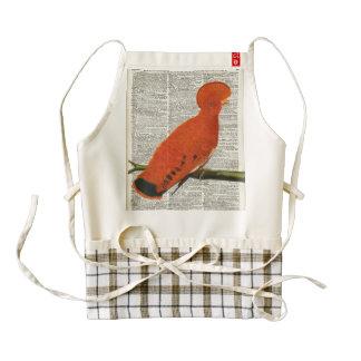 Orange Parrot bird Zazzle HEART Apron