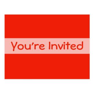 orange party invitation postcard