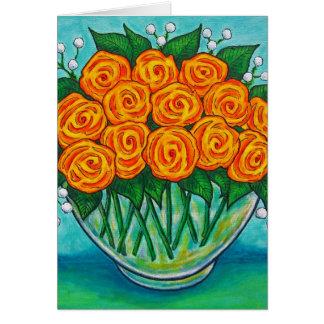 Orange Passion Rose Greeting/Note Card