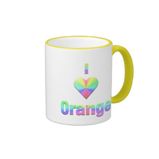 Orange -- Pastels Ringer Mug