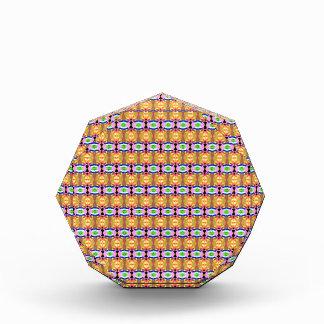 Orange Pattern Acrylic Award