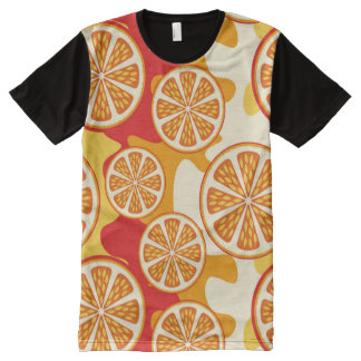 Orange pattern All-Over print shirt