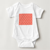 orange pattern baby bodysuit