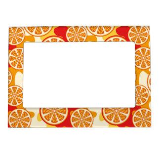Orange pattern magnetic frame