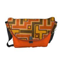 Orange Pattern Messenger Bag