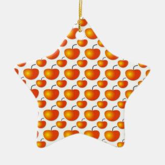 Orange Pattern Ornament