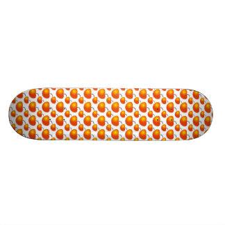 Orange Pattern Skateboard