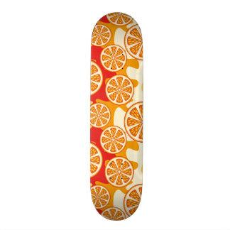 Orange pattern skateboard deck