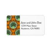 Orange Patterned Tree of Life Label (<em>$3.15</em>)