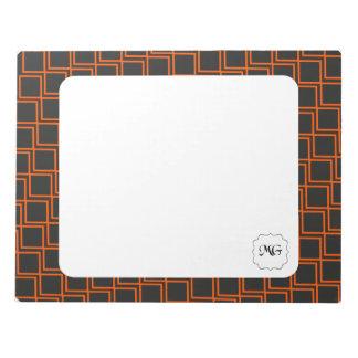 orange patterns notepad