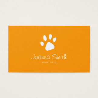 Orange Paw Dog Walking Pet Sitting Vet Appointment Business Card