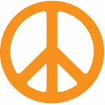 Orange Peace Ornament Acrylic Cut Outs