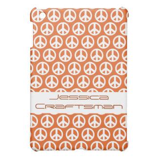 Orange peace sign Design  Cover For The iPad Mini
