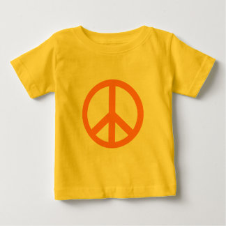 Orange Peace Sign Products Baby T-Shirt
