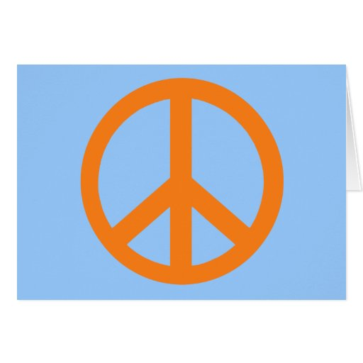 Orange Peace Sign Products Card
