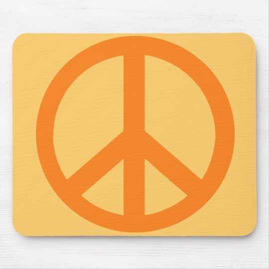 Orange Peace Sign Products Mouse Pad