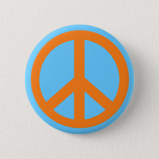 Orange Peace Sign Products Pinback Button