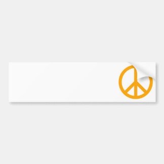 Orange Peace Symbol Bumper Sticker