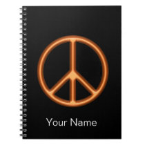 Orange Peace Symbol Notebook