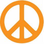 Orange Peace Symbol Sculpture Photo Sculpture