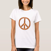 Orange Peace Symbol T-Shirt