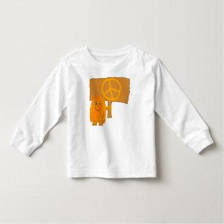 orange peace toddler t-shirt