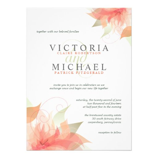 Peach Wedding Invitations correctly perfect ideas for your invitation layout