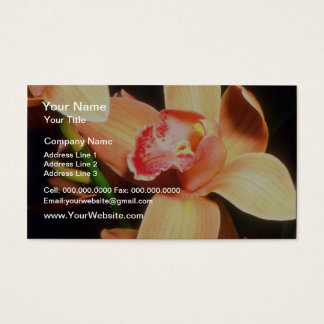 Orange Peach Orchid flowers Business Card