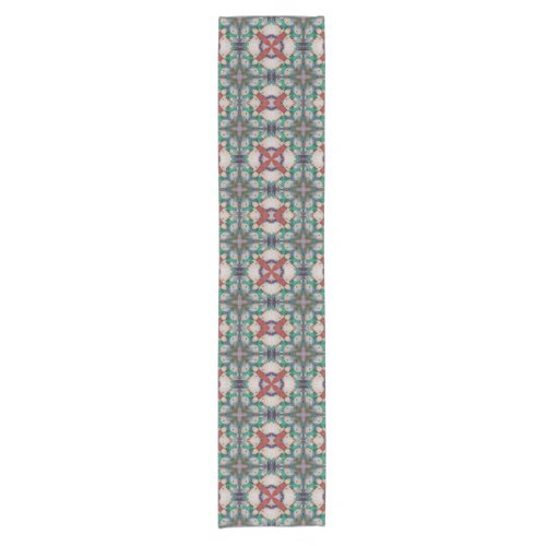 Orange Peach Teal Table Runner