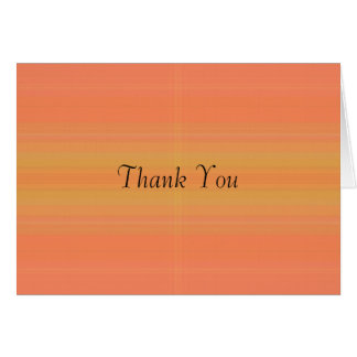 Orange Peach, Thank You Card