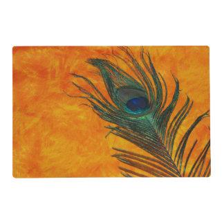 Orange Peacock Placemat