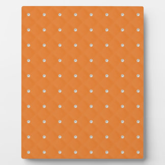 Orange Pearl Stud Quilted Display Plaques