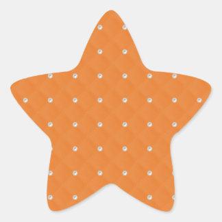 Orange Pearl Stud Quilted Star Sticker