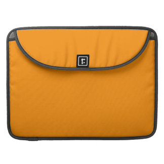 ORANGE PEEL (solid fruity color) ~ Sleeve For MacBooks