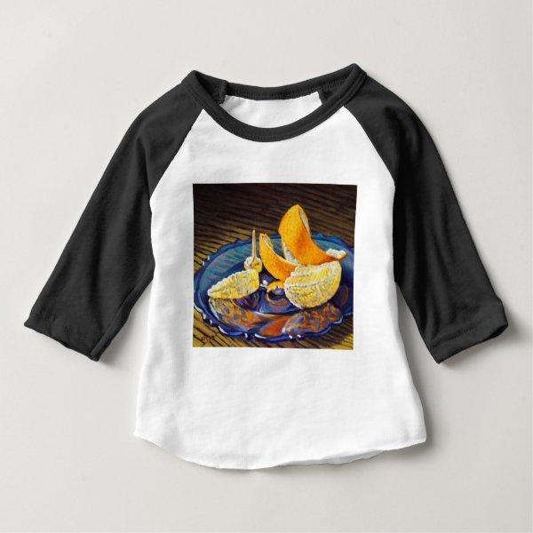Orange Peel Swirl Baby T-Shirt